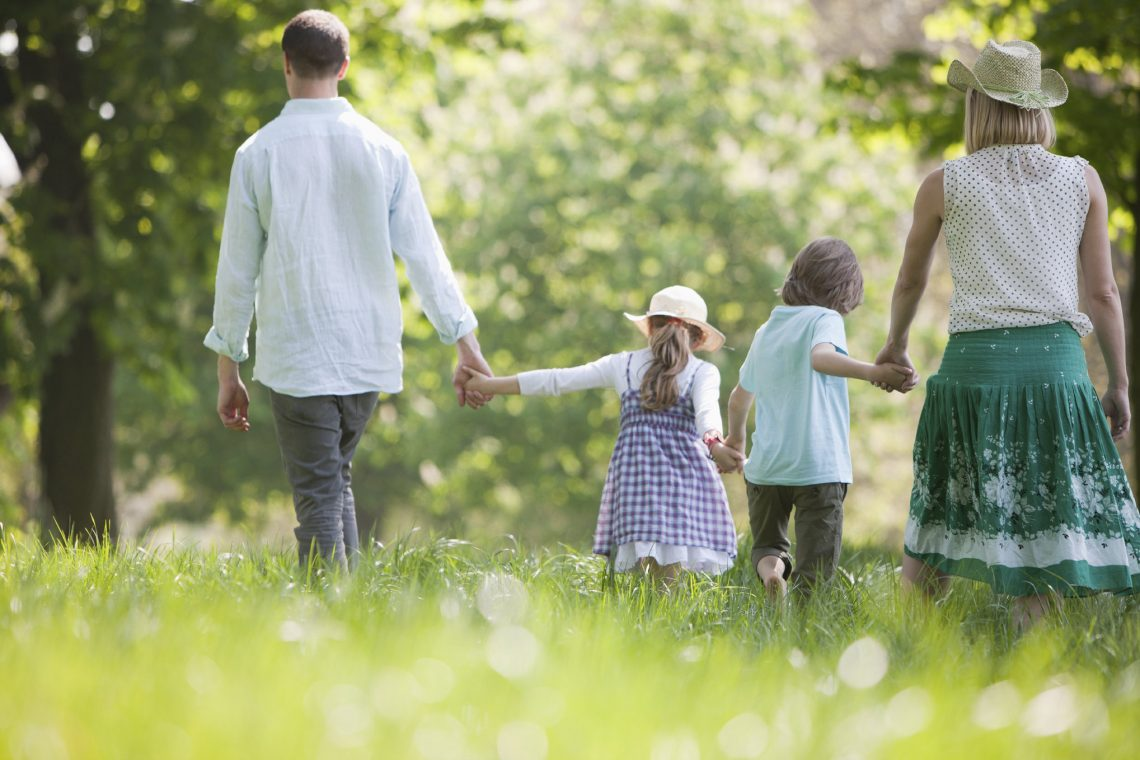 Family-Walking-Kids-Parents