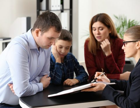 Divorced Parents Meeting with Child Custody Attorney