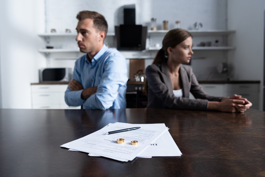 Stressed Couple Going Through Divorce